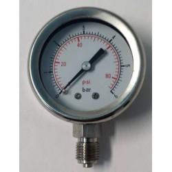 Manometro Inox 6 Bar diametro dn 50mm radiale