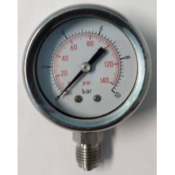 Manometro Inox 10 Bar diametro dn 50mm radiale