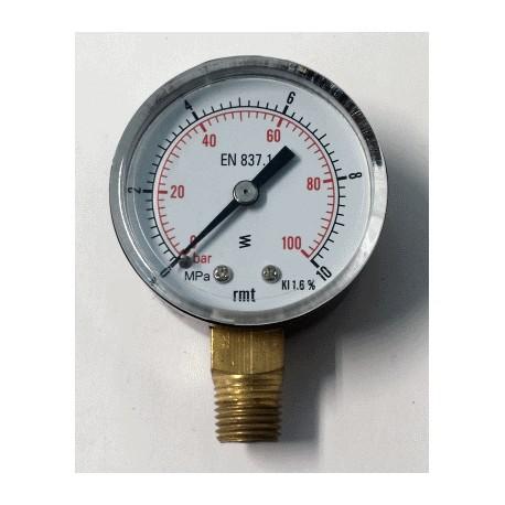 Dry pressure gauge diameter dn 50mm bottom 10 mpa