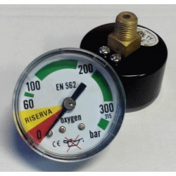 Oxygen pressure gauge 315 Bar diameter dn 40mm back