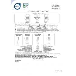 Manometro certificato ACCREDIA dn 100 TUTTO INOX