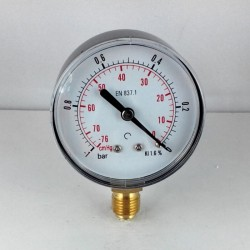 Dry vacuum gauge -1 Bar diameter dn 63mm bottom