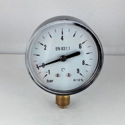 Dry vacuum gauge -1+9 Bar diameter dn 63mm bottom