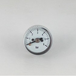 Dry pressure gauge 6 bar diameter dn 25mm back