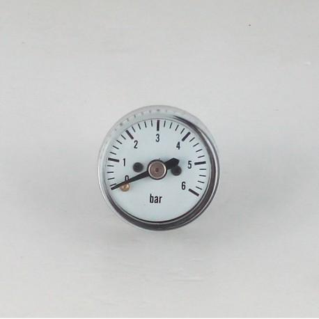 Dry pressure gauge 6 bar diameter dn 25mm back