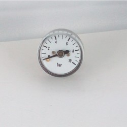 Dry pressure gauge 10 bar diameter dn 25mm back