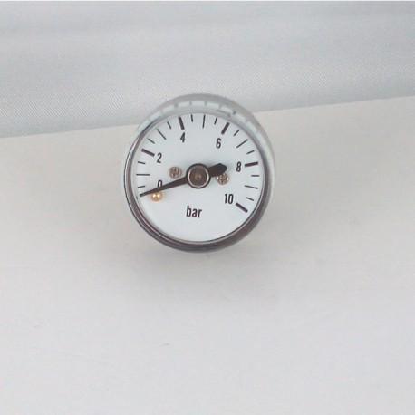 Manometro 10 bar diametro dn 25mm posteriore