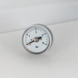 Dry pressure gauge 16 bar diameter dn 25mm back