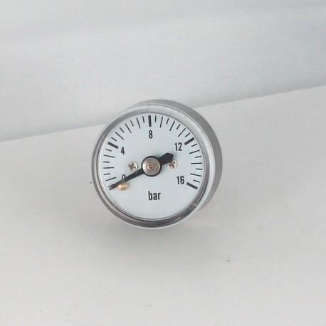 Dry pressure gauge 16 bar diameter dn 25mm back