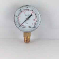 Manometro 1,6 Bar diametro dn 50mm verticale