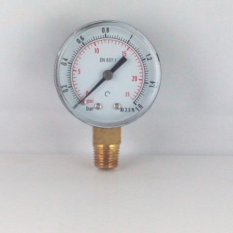 Dry pressure gauge 1,6 Bar diameter dn 50mm connection