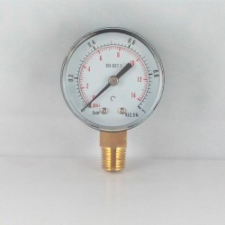 Dry pressure gauge 1 Bar diameter dn 50mm connection