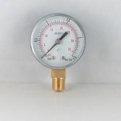 Manometro 2,5 Bar diametro dn 50mm verticale