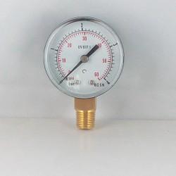 Manometro 4 Bar diametro dn 50mm verticale