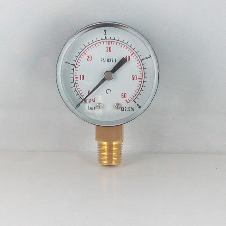 Dry pressure gauge 4 Bar diameter dn 50mm connection