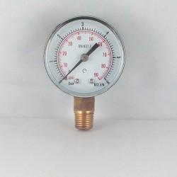 Manometro 6 Bar diametro dn 50mm verticale
