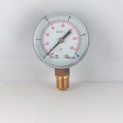 Manometro 10 Bar diametro dn 50mm verticale