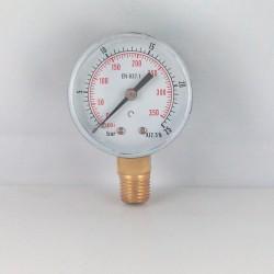 Manometro 25 Bar diametro dn 50mm verticale