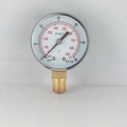 Manometro 60 Bar diametro dn 50mm verticale