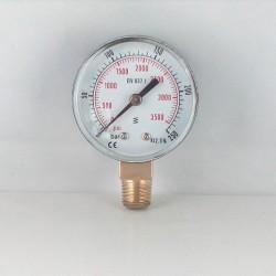 Manometro 250 Bar diametro dn 50mm verticale
