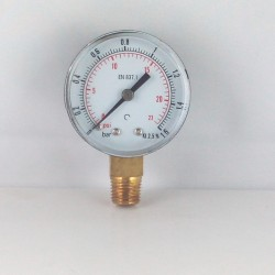 Dry pressure gauge 16 Bar diameter dn 50mm connection