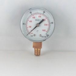 "Dry pressure gauge 100 Bar diameter dn 50mm 1/8""Bspt connection"