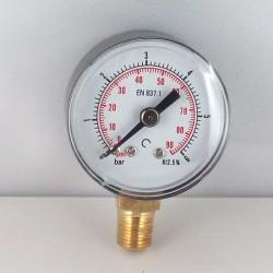 Manometro 6 Bar diametro dn 40mm radiale