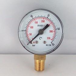 Manometro 25 Bar diametro dn 40mm radiale