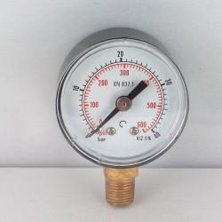 Dry pressure gauge 40 Bar diameter dn 40mm bottom