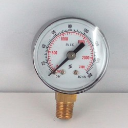 Dry pressure gauge 160 Bar diameter dn 40mm bottom