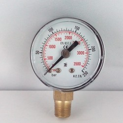 Dry pressure gauge 250 Bar diameter dn 40mm bottom