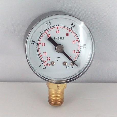Dry vacuum gauge -1 Bar diameter dn 40mm bottom