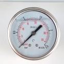 Glycerine filled pressure gauge 2,5 Bar diameter dn 63mm back
