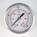 Glycerine filled pressure gauge 40 Bar diameter dn 63mm back