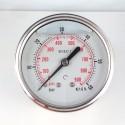 Glycerine filled pressure gauge 60 Bar diameter dn 63mm back