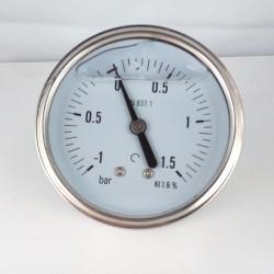 Manovuotometro glicerina -1+1,5 Bar diametro dn 63mm posteriore