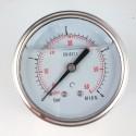 Glycerine filled pressure gauge 4 Bar diameter dn 63mm back