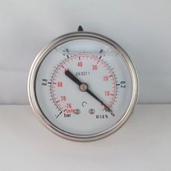 Vuotometro glicerina -1 Bar diametro dn 63mm posteriore