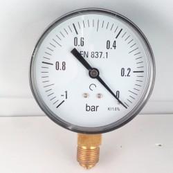 Vuotometro -1 Bar diametro dn 80mm attacco radiale