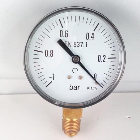 Dry vacuum gauge -1 Bar diameter dn 80mm bottom connection