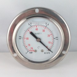 -1Bar glycerine filled vacuum gauge flange dn 63mm