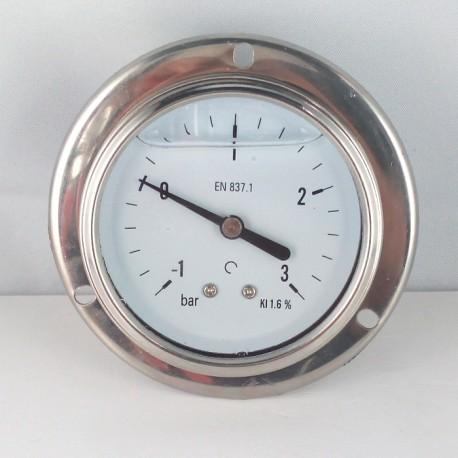 -1+3 glycerine filled compound gauge flanged Bar diameter dn 63mm