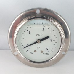 -1+15 Bar manovuotometro glicerina flangia diametro dn 63mm