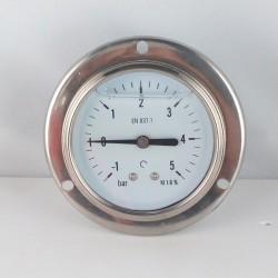 -1+5 Bar glycerine filled compound gauge flanged diameter dn 63mm