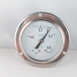 -1+0,6 Bar manovuotometro glicerina flangia diametro dn 63mm