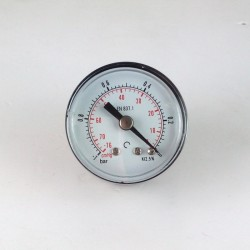 Dry vacuum gauge -1 Bar diameter dn 40mm back