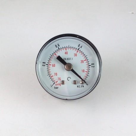 Dry vacuum gauge -1 Bar diameter dn 40mm back