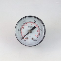 Dry pressure gauge 1 Bar diameter dn 40mm back