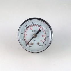 Dry pressure gauge 1,6 Bar diameter dn 40mm back