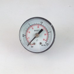 Dry pressure gauge 2,5 Bar diameter dn 40mm back
